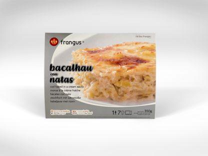 frangus, rei dos frangos, frangus food, bacalhau com natas, cod baked in cream suace, portuguese food, mediterranean food, deep frozen ready meal
