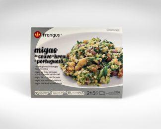 frangus, rei dos frangos, frangus food, migas, vegetarian dish, side dish, collard greens, portuguese food, mediterranean food, deep frozen ready meal