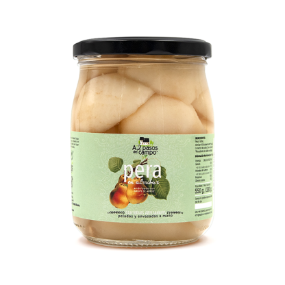 ORGANIC PEAR IN SYRUP SWEETENED WITH RICE SYRUP 550G