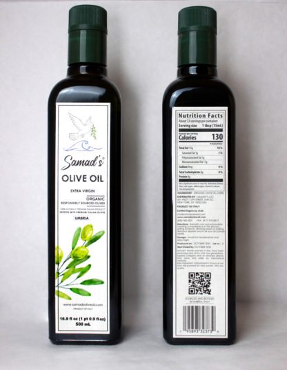 Samad's Real Front And Back Of 500 ML Unit Italy Bottle