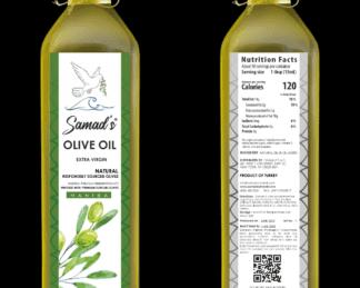 Samad's Turkish 100 Percent All Natural Extra Virgin Olive Oil